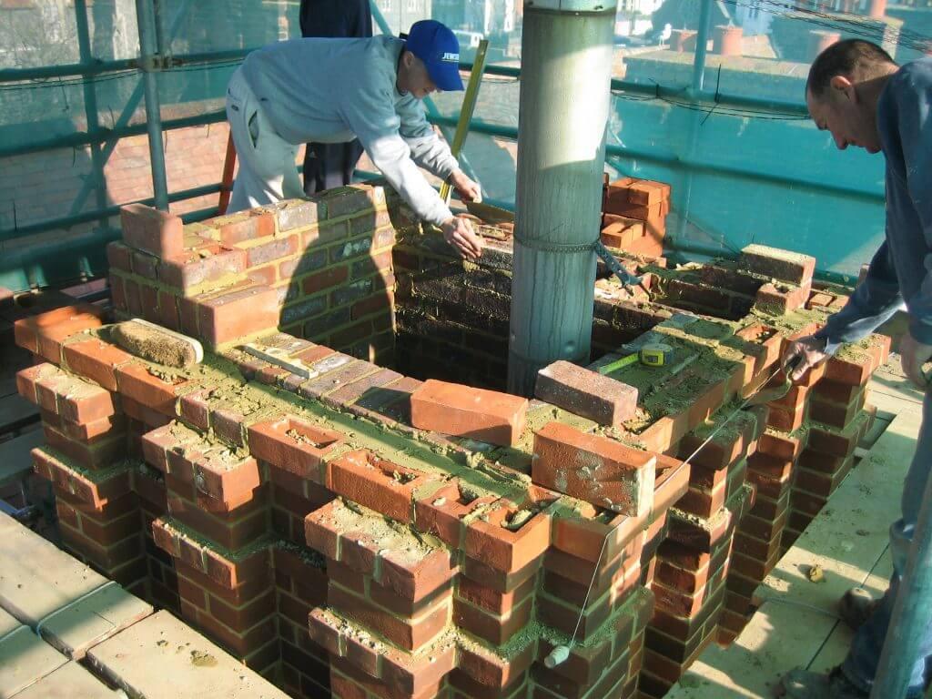 Brighton College chimney brickwork