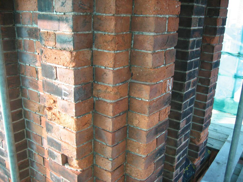 Brighton College chimney brickwork