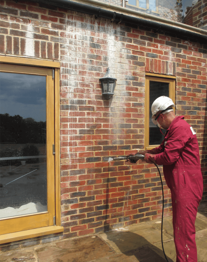 masonry cleaning - new build